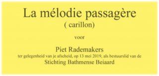 2019 Afscheid Piet Rademakers